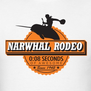 Narwhal Rodeo Awesome (orange) T-Shirts - Men's T-Shirt