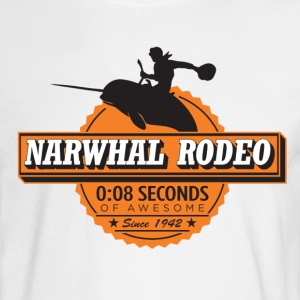 Narwhal Rodeo Awesome (orange) Long Sleeve Shirts - Men's Long Sleeve T-Shirt