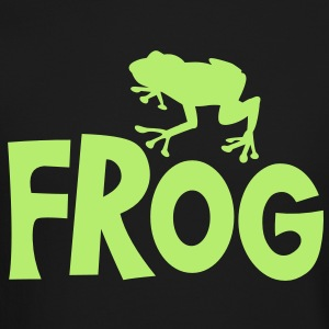frog typo with cute little froggy Long Sleeve Shirts - Crewneck Sweatshirt