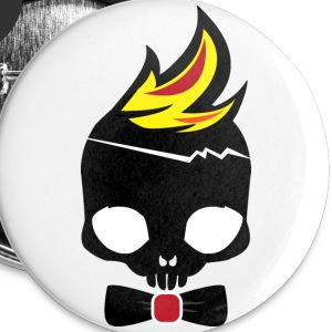 Boneykyd fire edition button - Large Buttons
