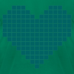 Squared Heart Shirt - Men's T-Shirt by American Apparel