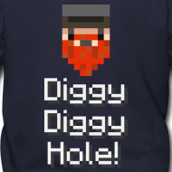 Design ~ Mens Zip Hoodie: Diggy Diggy Hole