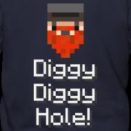 Design ~ Mens Zip Hoodie: Diggy Diggy Hole