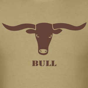 animal t-shirt bull skull ox horn horns bully cow farmer cowboy rodeo hunter texas boy wild west buffalo - Men's T-Shirt