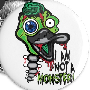 I Am Not a Monster: Zombie Duck button (large) - Small Buttons