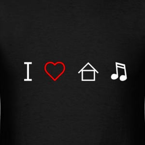 I Love House Music - Men's T-Shirt