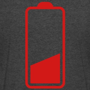 low battery three quarter one quarter batteries running out! T-Shirts - Men's V-Neck T-Shirt by Canvas