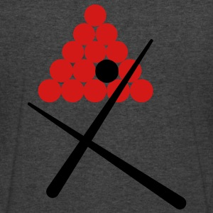 snooker balls with 2 cues play pool! T-Shirts - Men's V-Neck T-Shirt by Canvas