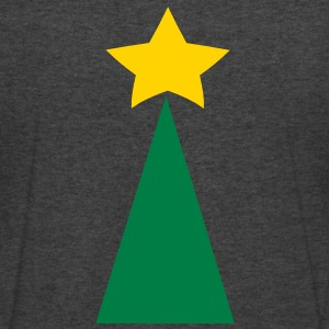 SIMPLE tree with a star Christmas T-Shirts - Men's V-Neck T-Shirt by Canvas