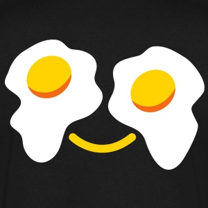 HAPPY EGG FACE T-Shirts - Men's V-Neck T-Shirt by Canvas