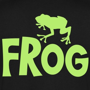 frog typo with cute little froggy T-Shirts - Men's V-Neck T-Shirt by Canvas
