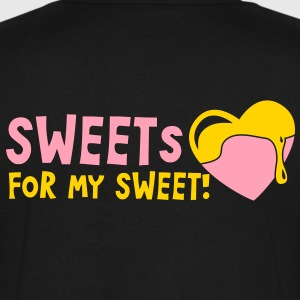 sweets for my sweet with melty love heart T-Shirts - Men's V-Neck T-Shirt by Canvas