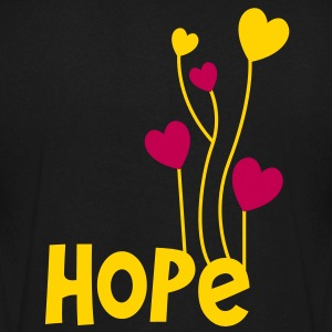hope with beautiful love heart balloons T-Shirts - Men's V-Neck T-Shirt by Canvas