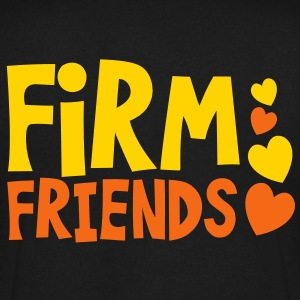 firm friends with love hearts cute font T-Shirts - Men's V-Neck T-Shirt by Canvas