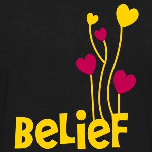 belief with love heart balloons uplifting T-Shirts - Men's V-Neck T-Shirt by Canvas