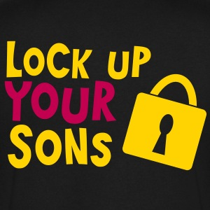 lock up your sons with padlock T-Shirts - Men's V-Neck T-Shirt by Canvas