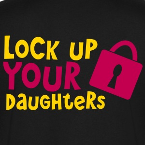 lock up your daughters with padlock T-Shirts - Men's V-Neck T-Shirt by Canvas