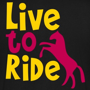 LIVE TO RIDE pony or horse T-Shirts - Men's V-Neck T-Shirt by Canvas
