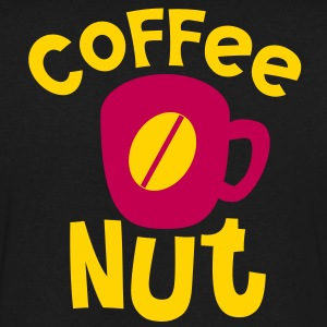 coffee nut T-Shirts - Men's V-Neck T-Shirt by Canvas