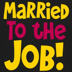 MARRIED TO THE JOB - good for singles who work all hours! T-Shirts - Men's V-Neck T-Shirt by Canvas