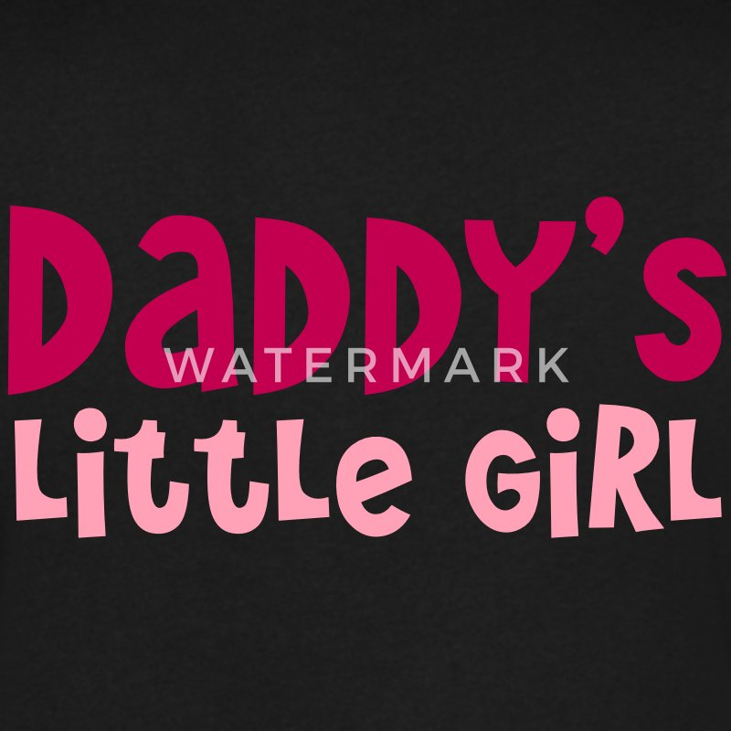 DADDY's little girl T-Shirts - Men's V-Neck T-Shirt by Canvas