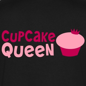 CUPCAKE QUEEN with cute little royal crown T-Shirts - Men's V-Neck T-Shirt by Canvas