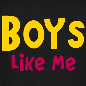 Boys like me T-Shirts - Men's V-Neck T-Shirt by Canvas