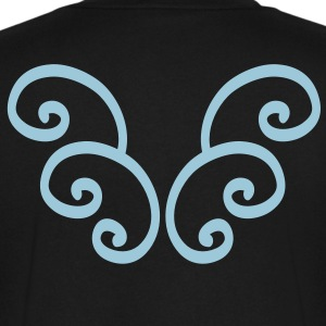 Angel curly wings T-Shirts - Men's V-Neck T-Shirt by Canvas