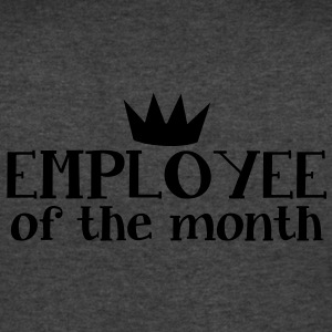 EMPLOYEE OF THE MONTH T-Shirts - Men's V-Neck T-Shirt by Canvas