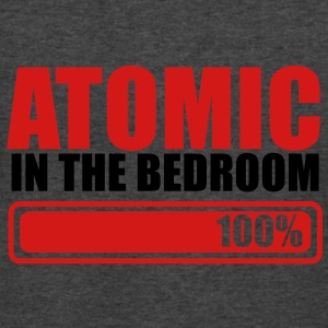 ATOMIC IN THE BEDROOM 100% one hundred percent T-Shirts - Men's V-Neck T-Shirt by Canvas