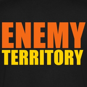 ENEMY TERRITORY T-Shirts - Men's V-Neck T-Shirt by Canvas