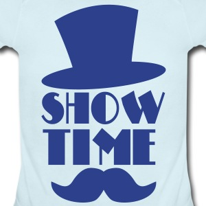 SHOW TIME MAGIC hat and moustache Baby Bodysuits - Short Sleeve Baby Bodysuit