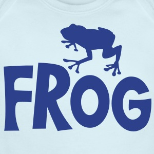 frog typo with cute little froggy Baby Bodysuits - Short Sleeve Baby Bodysuit