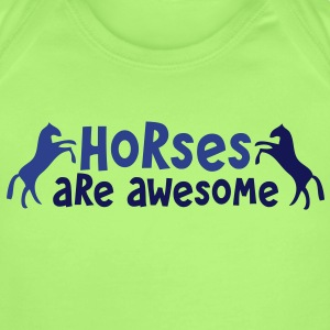 HORSES are AWESOME Baby Bodysuits - Short Sleeve Baby Bodysuit