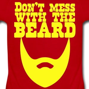 Don't Mess with the Beard Baby Bodysuits - Short Sleeve Baby Bodysuit