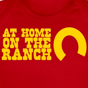 At home on the ranch with horseshoe Baby Bodysuits - Short Sleeve Baby Bodysuit