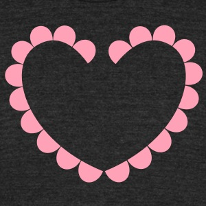love heart cameo oval shape T-Shirts - Unisex Tri-Blend T-Shirt