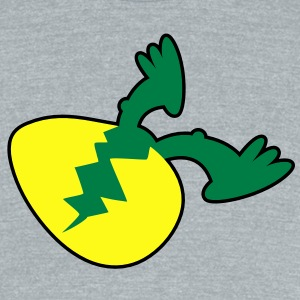 dino feet coming out of shell T-Shirts - Unisex Tri-Blend T-Shirt by American Apparel