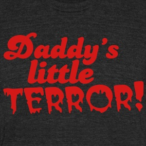 daddy's little terror T-Shirts - Unisex Tri-Blend T-Shirt by American Apparel
