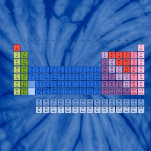 Periodic Table of Elements T-Shirts - Unisex Tie Dye T-Shirt