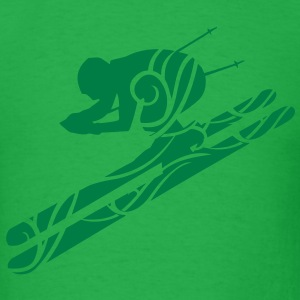 Skiing tribal T-Shirts - Men's T-Shirt