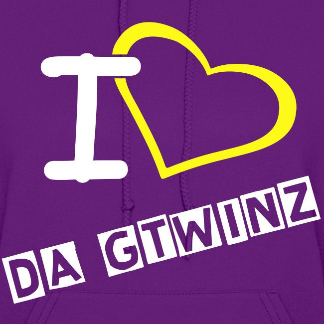 I Love Da Gtwinz ladies fitted hoodie