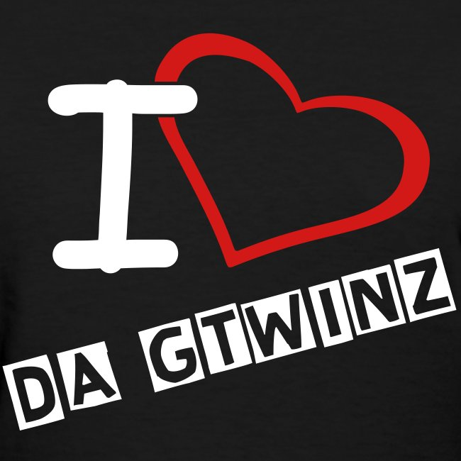 I Love Da Gtwinz ladies fitted tee