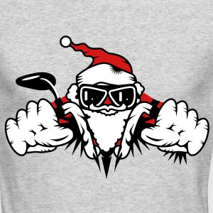 Santa Claus on Motorcycle Long Sleeve Shirts - Men's Long Sleeve T-Shirt by Next Level