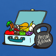Design ~ Paleo Child's Primal Kitchen Hooded Sweatshirt Featuring Lunchbox and Kettlebell