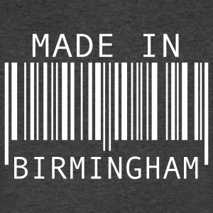 Made in Birmingham T-Shirts - Men's V-Neck T-Shirt by Canvas
