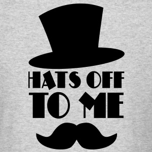 HATS OFF TO ME moustache and top hat Long Sleeve Shirts - Men's Long Sleeve T-Shirt by Next Level
