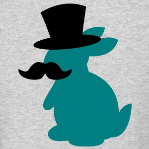 TOP HAT MOUSTACHE BUNNY Long Sleeve Shirts - Men's Long Sleeve T-Shirt by Next Level