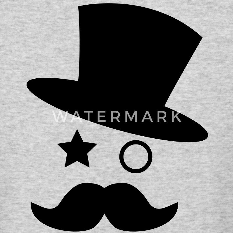 top hat and monocle with mustache T-Shirt | Spreadshirt