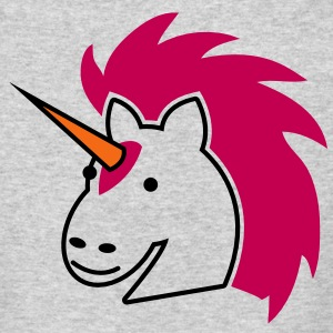 punk unicorn with bright hair Long Sleeve Shirts - Men's Long Sleeve T-Shirt by Next Level